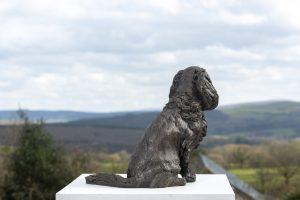 bronze cavalier king charles spaniel sculpture