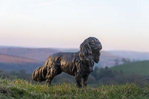 standing cavalier king charles spaniel statue