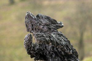 bearded collie sculpture