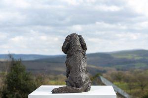 bronze cavalier king charles spaniel statue