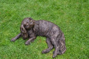 bronze cavalier king charles garden statue