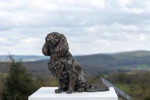cavalier king charles garden statue