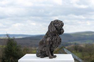 king charles cavalier sculpture
