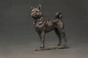 Akita Bronze Ornament