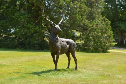 STANDING RED DEER STAG SCULPTURE