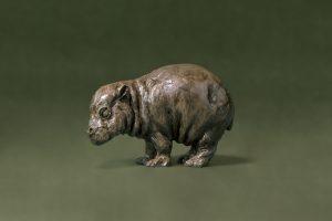 Bronze Baby Hippo