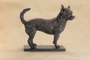 bronze chihuahua sculpture