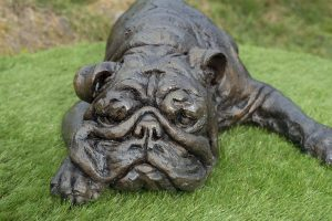 Bronze Life Size English Bulldog Statue