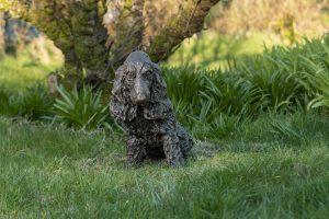 Bronze Cocker Spaniel Outdoor Sculpture