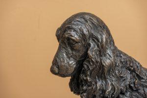 Close up of Cocker Spaniel statue