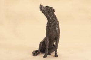 bronze lab statue