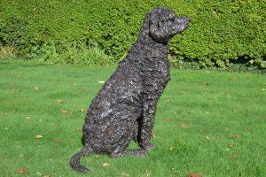 labradoodle garden sculpture