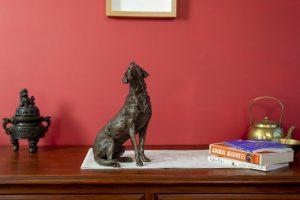bronze labrador sculpture