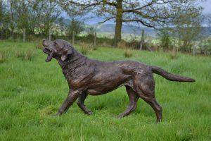 life size labrador statue