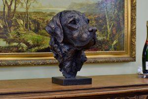 life size labrador sculpture
