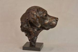 labrador sculpture portrait