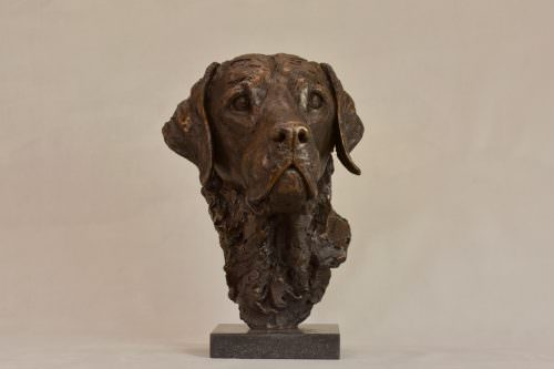 LABRADOR PORTRAIT 3 SCULPTURE