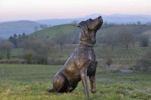 Sitting Labrador Statue