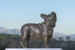 Bronze French Bulldog Garden Statue