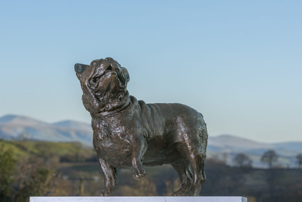 Bronze French Bulldog Sculpture