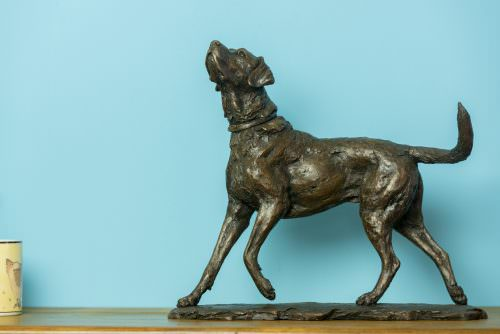 PLAYING LABRADOR SCULPTURE