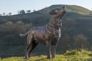 Standing Labrador Sculpture