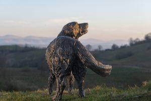 bronze retriever statue