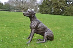 SITTING POINTER SCULPTURE