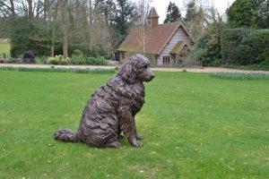 bronze sitting newfoundland statue