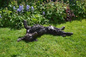 bronze spaniel garden ornament