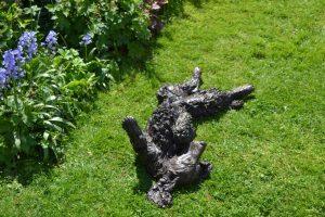 spaniel sculpture bronze