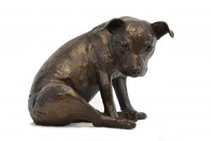 staffordshire bull terrier statue