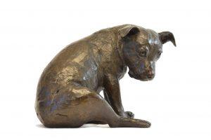 staffie dog garden statues