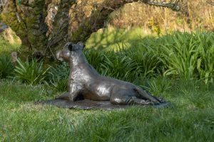 Staffordshire Bull Terrier Garden Statue
