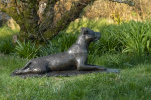 Staffordshire Bull Terrier Outdoor Sculpture