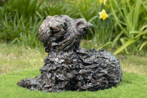 outdoor yorkshire terrier sculpture