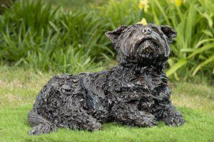 garden yorkshire terrier sculpture