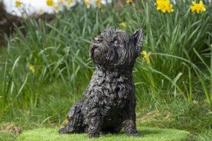 Sitting West Highland Terrier Statue