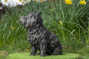 Sitting West Highland Terrier Sculpture