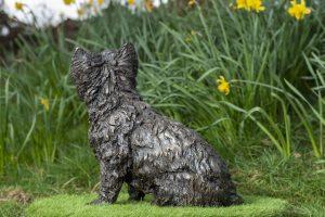 Sitting West Highland Terrier Bronze