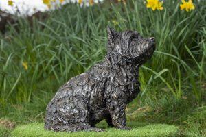 Sitting West Highland Terrier Garden Statue