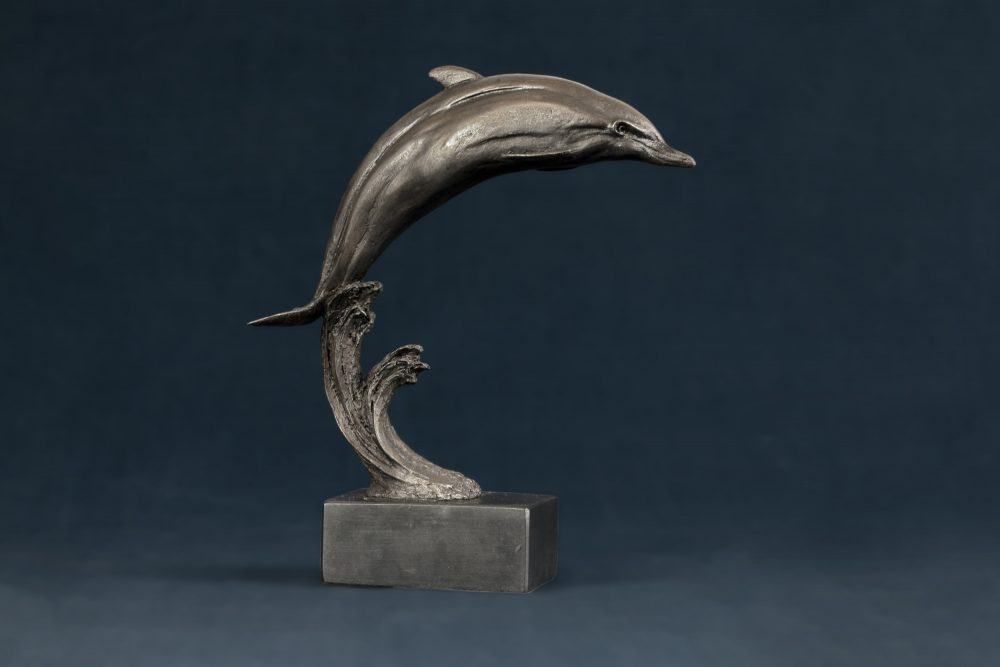 Leaping Dolphin Statue