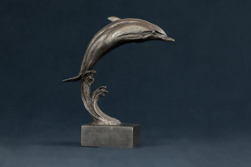 LEAPING DOLPHIN SCULPTURE