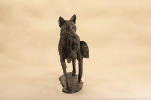 FOX AND PHEASANT SCULPTURE