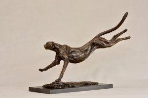 Bronze Cheetah art
