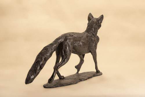 FOX AND PHEASANT SCULPTURE