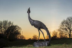 Large Crane Sculpture Outdoors