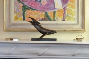 Bronze Whale and Calf
