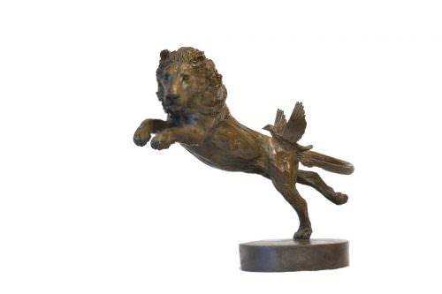 LION AND DOVE SCULPTURE