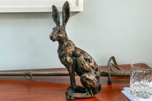 Foundry Bronze Sitting Hare